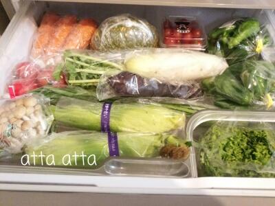 冷蔵庫 お野菜ぎっしり