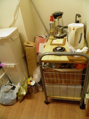汚部屋 キッチンのお片付け Before