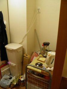 元汚部屋 キッチン ゴミ置き?