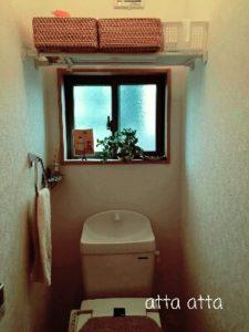 お客様宅 トイレ 突っ張り板