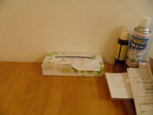 物が置いているダイニングテーブル