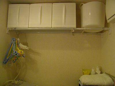 洗面所 突っ張り板 棚変わり