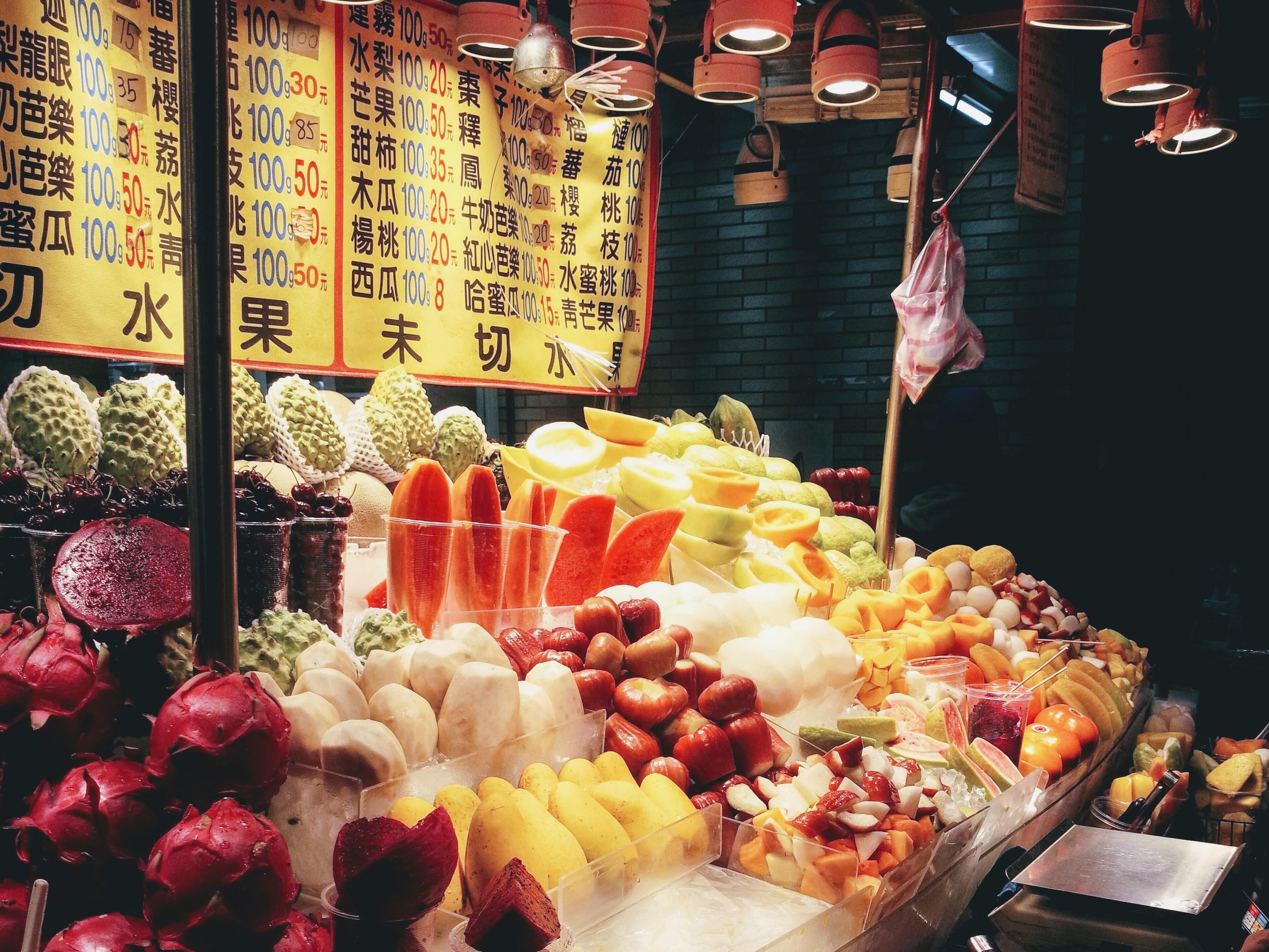 台湾 フルーツ屋台