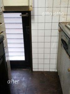 台所のお片付け 床みえた!