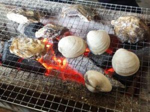 牡蠣焼き ハマグリ