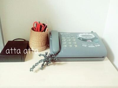 17年使用したファックス付き電話機