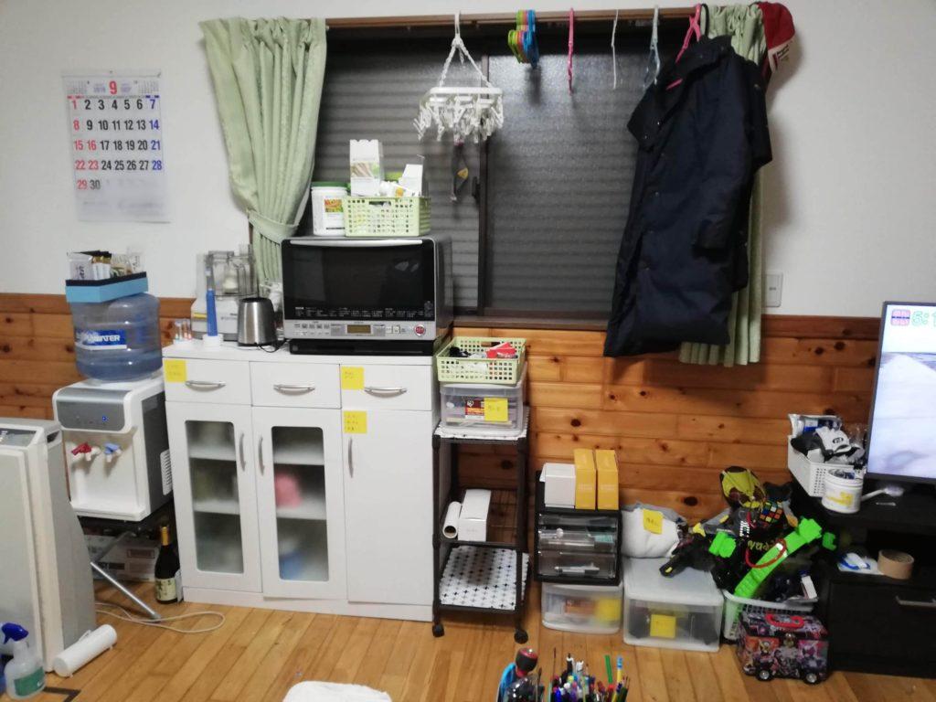 食器棚の配置換え 片付け後の写真
