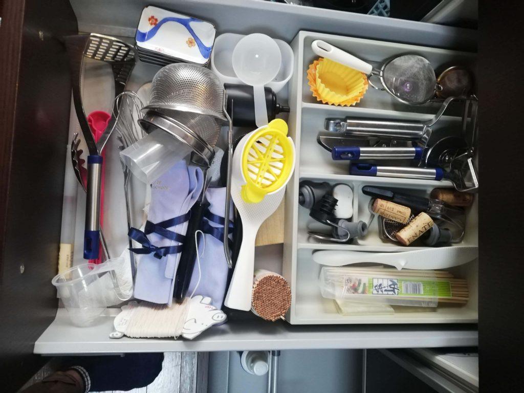 キッチンの道具 片付け